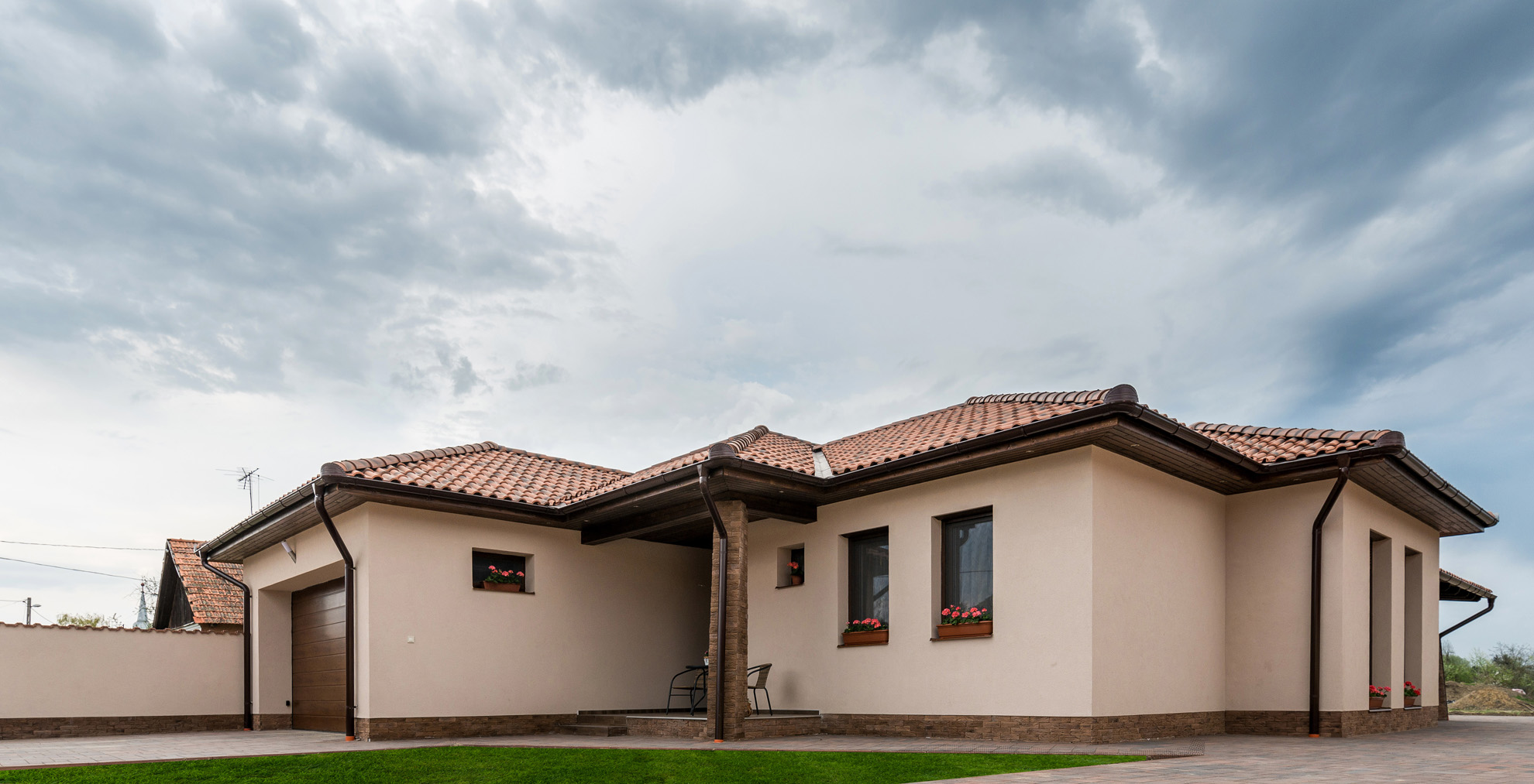 Barna ház színek