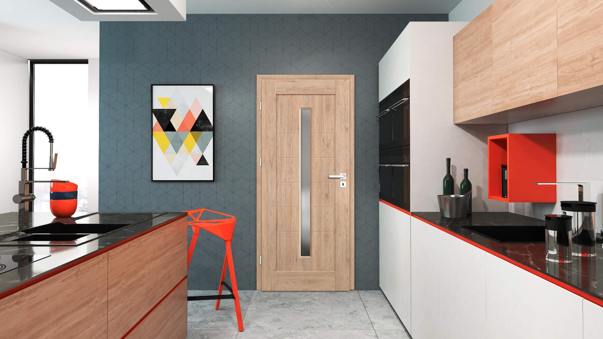 Ewodia ajtó, Modern beltéri ajtók