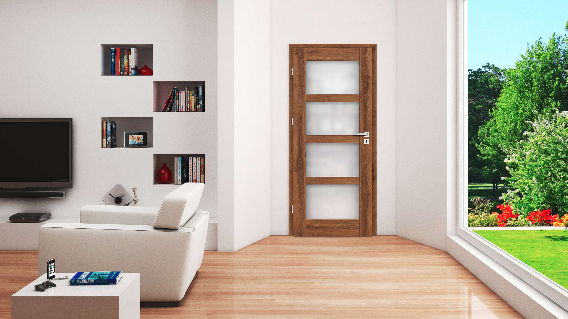 Juka ajtó, Modern beltéri ajtók